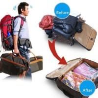 Jual [ ECERAN ] Medium size Vacuum storage bag 60x80 cm Compressed Package Murah