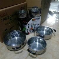 Jual (Murah) panci set/soup pot tutup kaca 10 set Murah