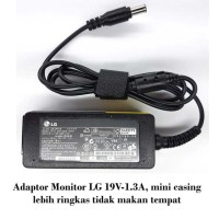 Jual Adaptor LCD LED Monitor LG 19V-1.3A (6.5-4.4) 19EN33S, 19M35D, 22EA53V Murah
