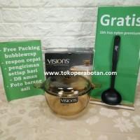 Jual promo (Packing Kayu) Panci Kaca + Tutup Kaca Visions VS-2.5Ltr Murah