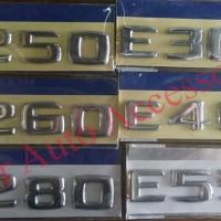 Jual Emblem Letter Bagasi Mercedes Benz E Class W124, W210, W211, W212 W213 Murah