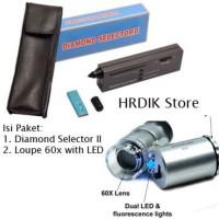 Jual BEST SELLER - Diamond Selector II + Loupe 60x Zoom with LED - PAKET Murah