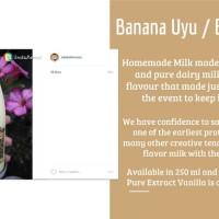 daebak banana uyu homemade susu pisang ala korea jongmal masisoyo