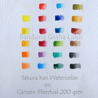 Jual baru Canson Watercolor Paper 200 gsm with New Gelatine Sizing Murah