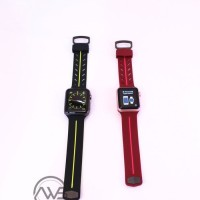 Jual Apple Watch Action Band/Strap Black Neon by X-Doria For Series 1- 2- 3 Murah