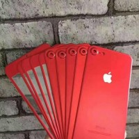 Jual Iphone 7 PLUS (2 in 1) Premium 3D Glass RED with camera protector RED Murah