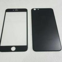 Jual Iphone 6 PLUS (2in1)Premium 3D Glass BLACK with camera protector BLACK Murah