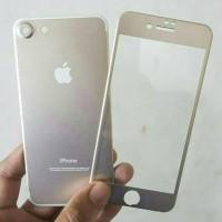 Jual Iphone 7 PLUS (2in 1) Premium 3D Glass Gold with camera protector Gold Murah