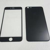 Jual Iphone 6/6S (2in 1) Premium 3D Glass BLACK with camera protector BLACK Murah