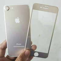 Jual Iphone 7 (2 in 1) Premium 3D Glass Gold with camera protector Gold Murah