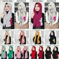 Jilbab Instan kerudung Hijab Hoodie Rina Nose Jaman Dulu