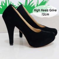 Jual Sepatu High Heels Suede beludru halus 12cm Murah