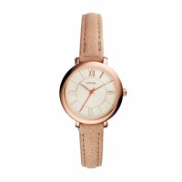Jual Fossil ES3802 Jacqueline Mini Sand Leather Watch Murah
