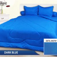 Jual Sprei Polos Embos Full Heart ukuran 180x200 T 30 Dark Blue Murah