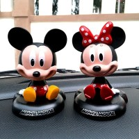 Jual Boneka Figure Miniatur Pajangan Mobil Mickey mouse Minnie Mouse Murah