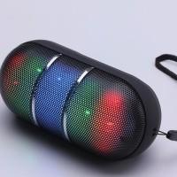 Jual Bluetooth Wireless Mini Pill LED Speaker (USB, Micro SD/TF Card, Aux) Murah