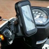 Jual Holder anti hujan & copet untuk smartphone / handphone di motor 6,3