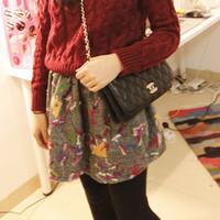Jual rok flare skirt import motif bordir abstrak bawahan tutu dress Murah