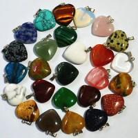Wholesale Fashion natural round Gemstone stone Silver P Beads Pendant 10pcs//lot