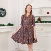 Jual NoonaKu - Noelle Flare Dress / Dress Kimono / Baju Natal / Dress Natal Murah