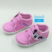 sepatu anak perempuan pink karakter lucu perekat velcro 22-30 SKU-SIDP