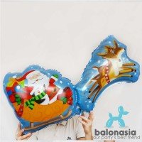 Jual Balonasia Balon Foil Kereta Santa Balon Rusa Santa Christmas Murah