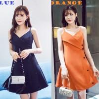 Jual JES-SB0615 mini dress sexy import korea-baju gaun dress casual wanita Murah