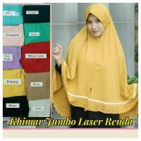 Produsen Hijab Khimar Jumbo Laser Renda
