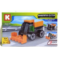 Lego Happy City - City Garbage Truck / lego murah K19003