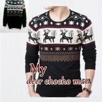 Baju Pria sweter rajut Pria DEER COCO MAN Premium