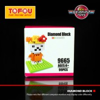 Jual Mainan Anak Nanoblock Sanrio Hello Kitty 9665 Murah Murah