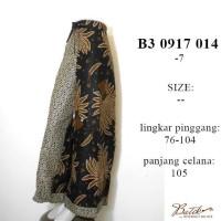 celana batik kulot panjang B30917014 / bawahan batik motif jokowi ootd
