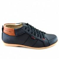 Jual  Sepatu Pria Sneakers Santai Kampus dan Kerja Redknot Clarity Blac T19 Murah