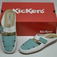 Jual  sepatu sandal kickers wanita slop bustong slip on kerja form T0210 Murah