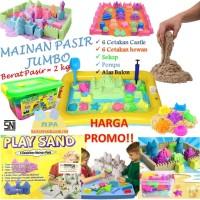 Jual Mainan Unik Edukasi Pasir Ajaib Kinetic Play Sand Melatih Motorik Anak Murah