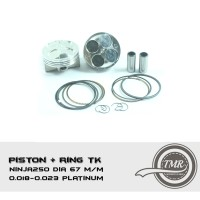 PISTON MOTOR + RING TK NINJA250 DIA 67 M/M 0.018-0.023 PLATINUM
