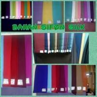 Bahan/Kain Siffon/Chiffon Silk Silky Premium