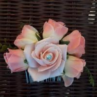 Jual sirkam jepit bunga flower crown bridal handmade hiasan rambut cepol Murah