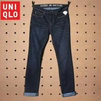 Jeans GU by Uniqlo Slim Stretch Dark Navy Faded Denim Original