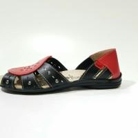 Jual Sandal sepatu flat KICKERS wanita kickers flat warna hitam model stud Murah