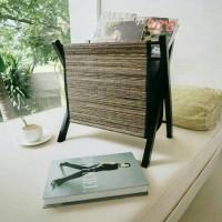 Jual Home Decoration - Tempat Penyimpanan Majalah Koran dari Kayu & Lidi Murah