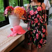 Jual Flowery Boho Dress Murah