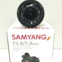 Jual Lensa Samyang 7.5mm f3.8 fish eye for Micro four third Murah