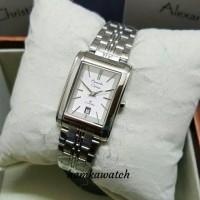 jam tangan wanita alexander Cristie original ac8408 silver plat putih