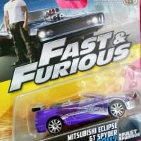 Jual Fast Furious Mattel Mitsubishi Eclipse GT Spyder Murah