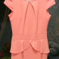 Jual Peplum Mandarin Orange Dress Murah