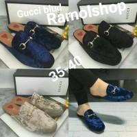 Jual Fashiob Wanita Sandal Sepatu Gucci blud / Sandal Sepatu Import Murah