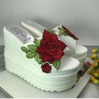Jual Sandal Wanita Import/Flower Wedges/Sepatu Import Murah Murah