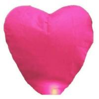 Jual Lampion Terbang warna warni bentuk Hati / Love Murah