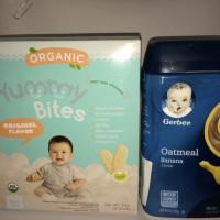 Jual Paket Hemat E : Yummy Bites Organik + Gerber Oatmeal Murah